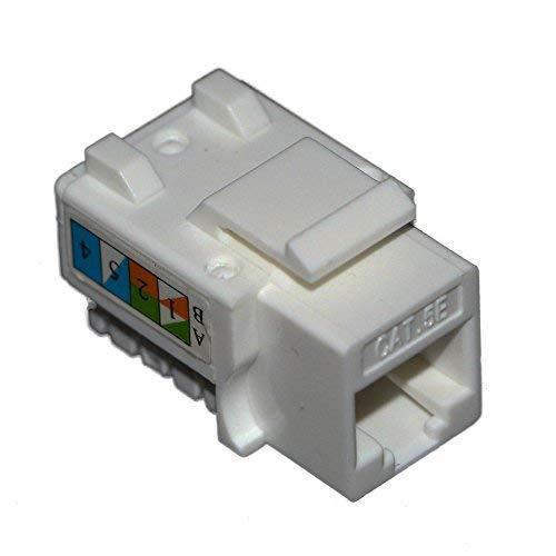 30 Pieces UTP Cat 5e Keystone Jack for Ethernet Cable,Fluke Passed RJ 45 Port