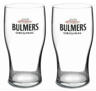 2 x Bulmers Original Cider Pint Glass (2 Glasses)