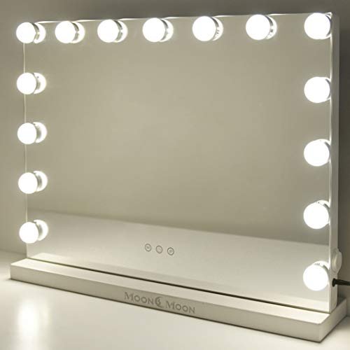 MoonMoon Hollywood Vanity Mirror with Lights,Professional Makeup Mirror with Smart Touch Adjustable -