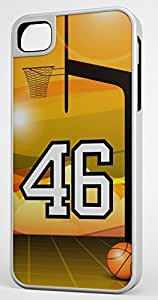 iphone covers Basketball Sports Fan Player Number 46 White Rubber Hybrid Tough Case Decorative Iphone 5c Case