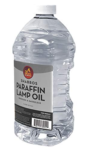 - Ner Mitzvah Paraffin Lamp Oil - Clear Smokeless, Odorless, Clean Burning Fuel for Indoor and Outdoor Use - 2 Liter (67.6 oz)