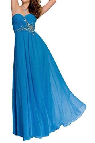 de fiesta Largo Azul Mujer noche Moda gasa Sweetheart novia Corazón novia Forma Vestidos Toskana Vestidos Para 8wXZRqvnx