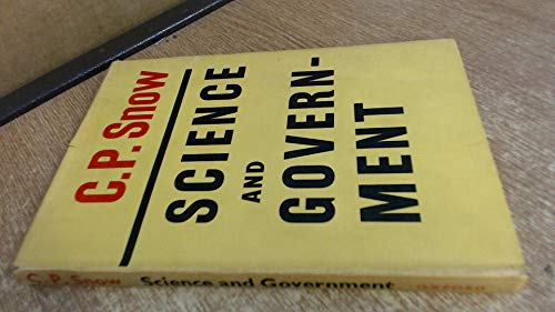 Science And Government by C.P. Snow