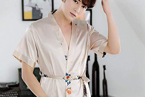 Da Leggero Uomo Di Marca Abbigliamento Lunga Bolawoo Notte Casa Vestaglia Mode Accogliente La Pigiama Accappatoio Seta Sezione Oro Camicia ZqqH1t