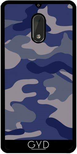 Funda de silicona para Nokia 6 - Azul Camouflagle by wamdesign