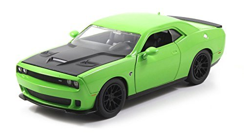 2015 Dodge Challenger SRT Hellcat Green 1/24 by Jada 97854 (Dodge Challenger Model compare prices)
