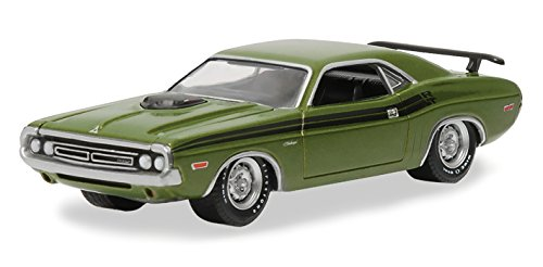 GREENLIGHT MUSCLE 1971 DODGE CHALLENGER R/T GREEN 1/64 DIECAST CAR MODEL 13160-C (1971 Dodge Challenger Diecast compare prices)