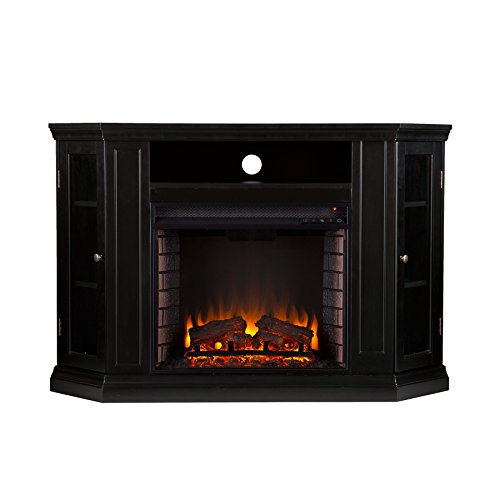 Southern Enterprises Claremont Convertible Media Electric Fireplace 48″ Wide, Black Finish Review