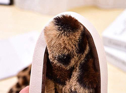 C Print Flat Donne Indoor Pantofole Leopard Autunno Scarpe Caldo 38 Home Inverno Piatte e Gpfdm Primavera 39 Antiscivolo fqnxT0t0