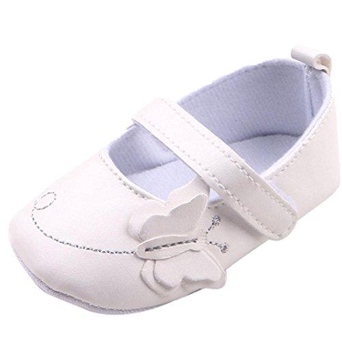 kingko® Schmetterling Dekor Anti-Rutsch-Herbst täglich Baby Säuglingsschuhe Weiß