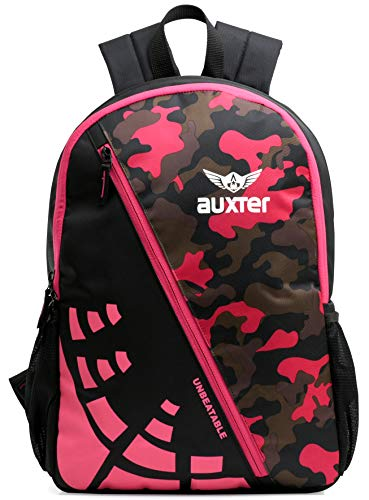 AUXTER 30 Ltrs 20 Cms Casual Backpack (AUXTER _BP _UNB_ PINK_CM_Pink Camouflage)