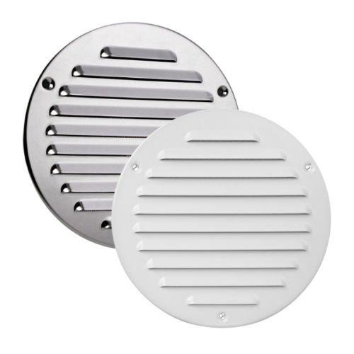 Griglia di ventilazione in acciaio inox Ø 125 mm rotondo in metallo cromato insecta rete griglia di scarico aria griglia ventilazione MTA 16 aria immessa AWT