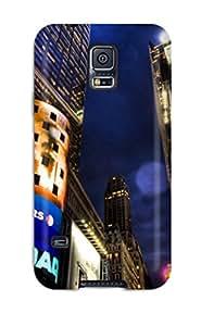 Tough Galaxy PzPfDRS4126MelcX Case Cover/ Case For Galaxy S5(nasdaq Stock Market New York)
