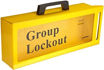Brady Wall-Mount Group Lock Box for Lockout/Tagout, Metal