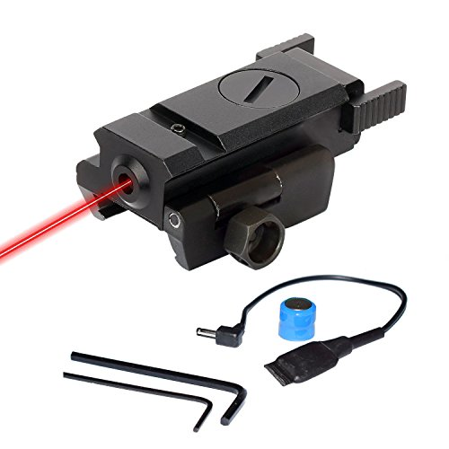 Laser Beam Gun - Twod Gun Sight Laser Red Dot Quick Release for Gun Rifle Pistol Picatinny Mount