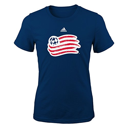 OuterStuff MLS New England Revolution Girls -Primary Logo Short sleeve Tee, Navy, Large - Logo Primary T-shirt New