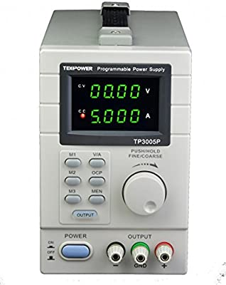 Tekpower TP3005P Programmable Linear Type Variable Regulated DC Power Supply, 0-30V at 0-5A