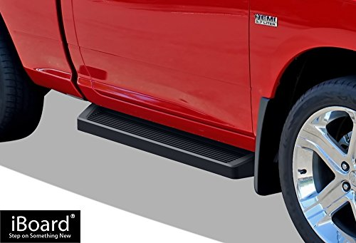 iBoard (Black Powder Coated Running Board Style) Running Boards | Nerf Bars | Side Steps For 2009-2018 Dodge Ram 1500 Regular Cab Pickup 2-Door (Incl. 2019 Ram 1500 Classic)& 2010-2019 Ram 2500/3500