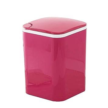 LXD Bote de basura - Mini almacenamiento de mesa, con tapa de ...