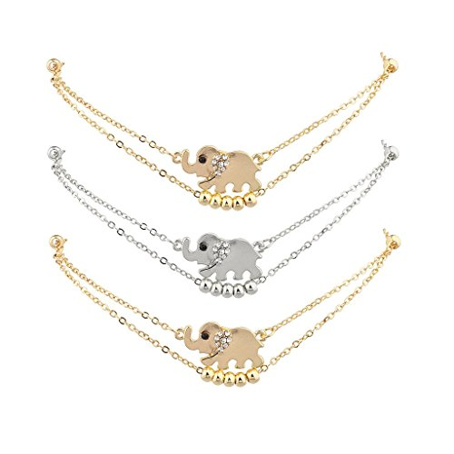 Cute Ring Leader Costume (Lux Accessories Animal Elephants Anklet Set (3PC))