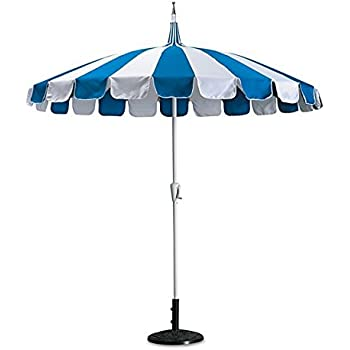 8' Catalina Patio Umbrella (Blue and White)