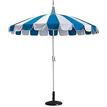 8u0027 Catalina Patio Umbrella (Blue And White)