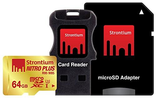 Strontium Nitro Plus 64GB UHS-I Class 3 MicroSDXC Card