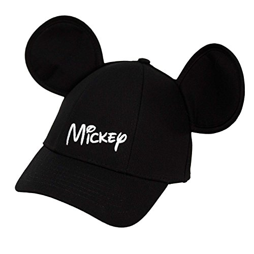 Mickey Mouse Hats (Disney Youth Hat Kids Cap with Mickey Mouse Ears (Mickey Black))