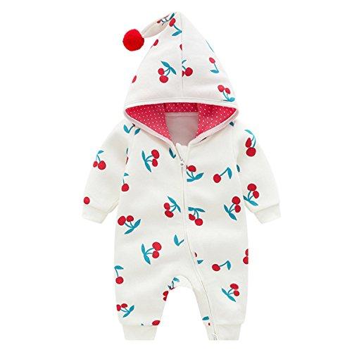 Bebone baby meisje romper pak herfst winter babykleding (Wit, 3-6 maanden/59)