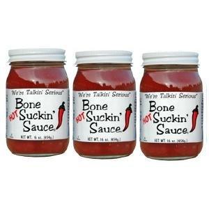 Bone Suckin Sauce Chicken Barbecue Sauce - Bone Suckin' BBQ Sauce Hot, 16 Ounce Jar (pack of 3)