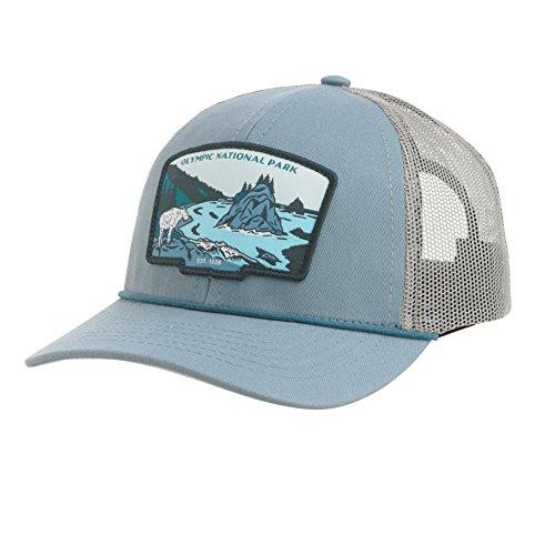 Sendero Olympic National Park Hat Meshback, Blue Stone/Stone/Net, One Size