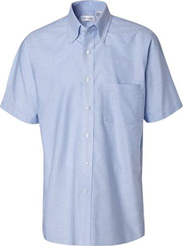 Van Heusen Men's Short Sleeve Oxford Dress Shirt - Light Blue - XL