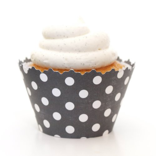 Simply Wrappers Polka Dots Cupcake Wrappers (Black)