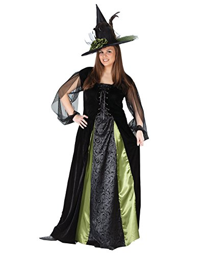 Summitfashions Classic Witch Goth Maiden Plus Size Theatre Costumes Sizes: One Size