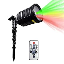 IMAXPLUS Outdoor Laser Christmas Light, Star Laser Show Christmas Projector with IR Wireless Remote, Timer, Various Patterns for Halloween, Christmas, Holiday, Party, Landscape, and Garden Decoration