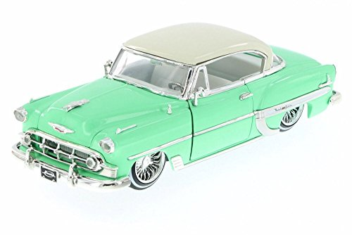 - 1953 Chevy Bel Air Hard Top Lowrider, Pastel Green - Jada 98918-MJ - 1/24 Scale Diecast Model Toy Car (Brand New but NO BOX)