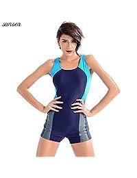 Sunsea One Piece Swimsuit, Athletic Swimsuit for Women, Sports Swimwear for Ladies, Racerback