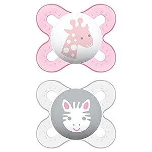 MAM Start Newborn Pacifiers (2 pack, 1 Sterilizing Pacifier Case), Newborn Baby Girl Pacifiers, Best Pacifier for Breastfed Babies, Self Sterilizing Baby Pacifier Case, Baby Pacifiers