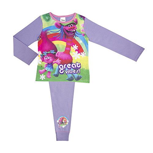 Cartoon Character Products Dremworks Trolls Girls Pyjamas - Age 4-10 - Great Vibes 4-5 Years/104-110 - Cartoons Character