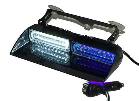 4333282492 FLUX Responder Emergency Vehicle Strobe Warning LED Dash /& Deck Light Red//White