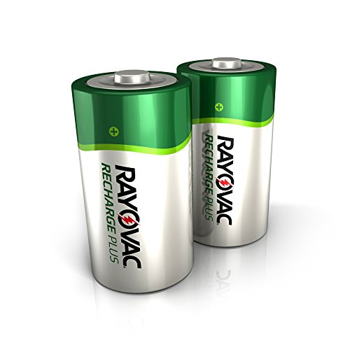 Rayovac Rechargeable D Batteries, High Capacity Rechargeable Plus D Battery (2 Count)