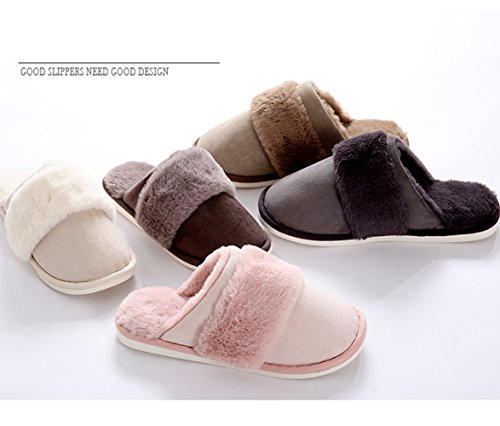 la calde Plush Pantofole per Original casa Pantofole Camicie Yellow Shoes Thermal Chiusure Donna Inverno Peluche AU5wq