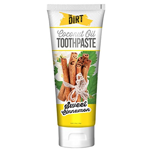 The Dirt All Natural Coconut Oil Toothpaste (Sweet Cinnamon, Six Month Supply 150g)