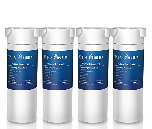 Pureza filters GE XWF Water Filter, Replacement for GE XWF, XWF Genuine Ge Refrigerator Compatible with GE French-door - Pack of 4