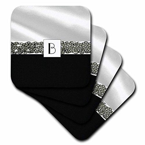 3dRose Print Letter White Silver