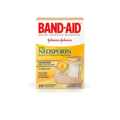 Band-AID with Neosporin Bandages Assorted Sizes 20 Each (Pack of - Band Antibiotic Bandages Aid