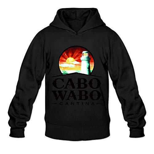 (Ngxiuquq Men Cabo Wabo Logo Funny Sports Black Sweater S)