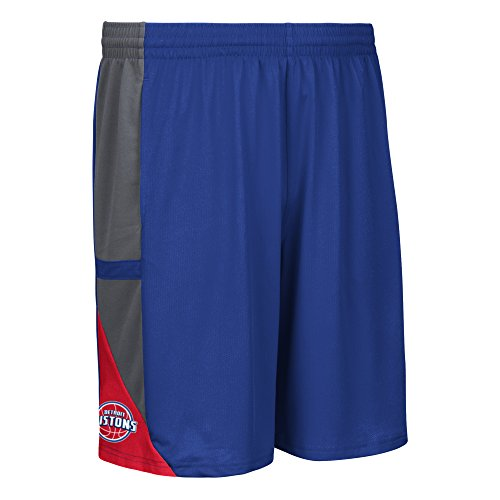 - NBA Detroit Pistons Men's Tip-Off Mesh Shorts, Medium, Blue