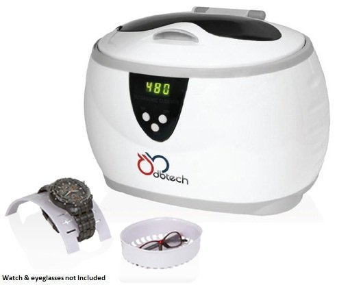 DB-Tech Digital Ultrasonic Jewelry Cleaner with a 17-ounce Stainless Steel Cleaning Tank, Jewelry Basket, Watch Holder, 5 Individual Cycles & Auto Shut-off - Generates 42,000 Ultrasonic Energy Waves Per - How To Eyeglasses Fit