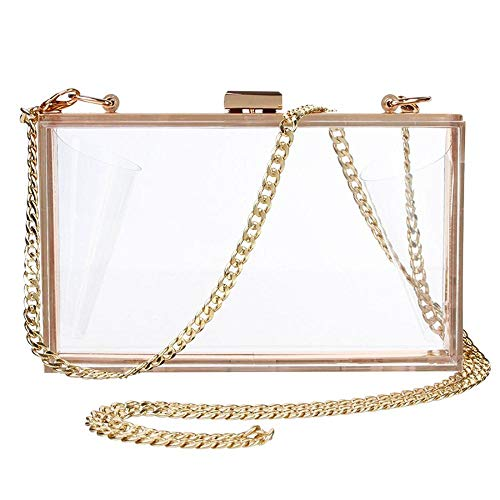 Hard Evening Cross Wedding Luxury Handbags Box Handbag Shoulder Body For Clear Purse Clutch Bag Women Bag Acrylic CwFxAqvtwS